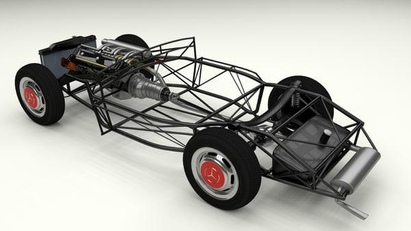 maya mercedes 300sl chassis