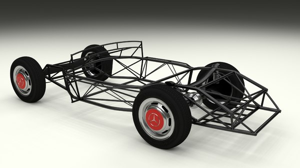 3d mercedes 300sl chassis