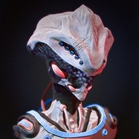 3d alien sculpted zbrush model