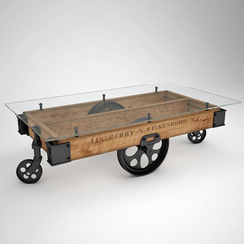 3d factory cart glass