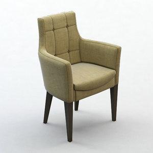 3d max armchair decoration