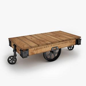 factory cart furniture 3d model
