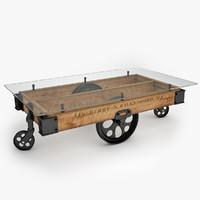 Glass Top Factory Cart