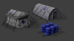 3d camp tents water