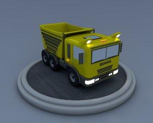 truck cartoon obj