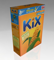 kix cereal box 3d obj