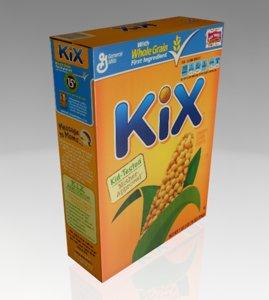 kix cereal box 3d obj