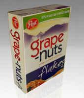 grape nuts cereal box