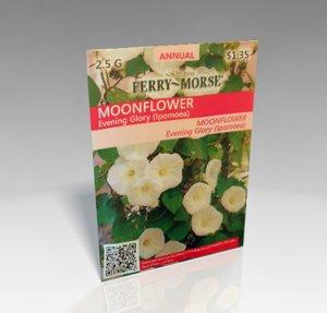 flower seed packet 3d model