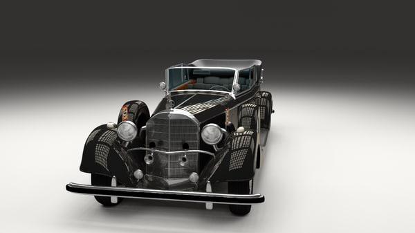 3d model mercedes 770k