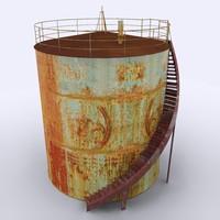 3ds max oil tanker