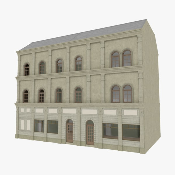 european building interior stores 3d 3ds