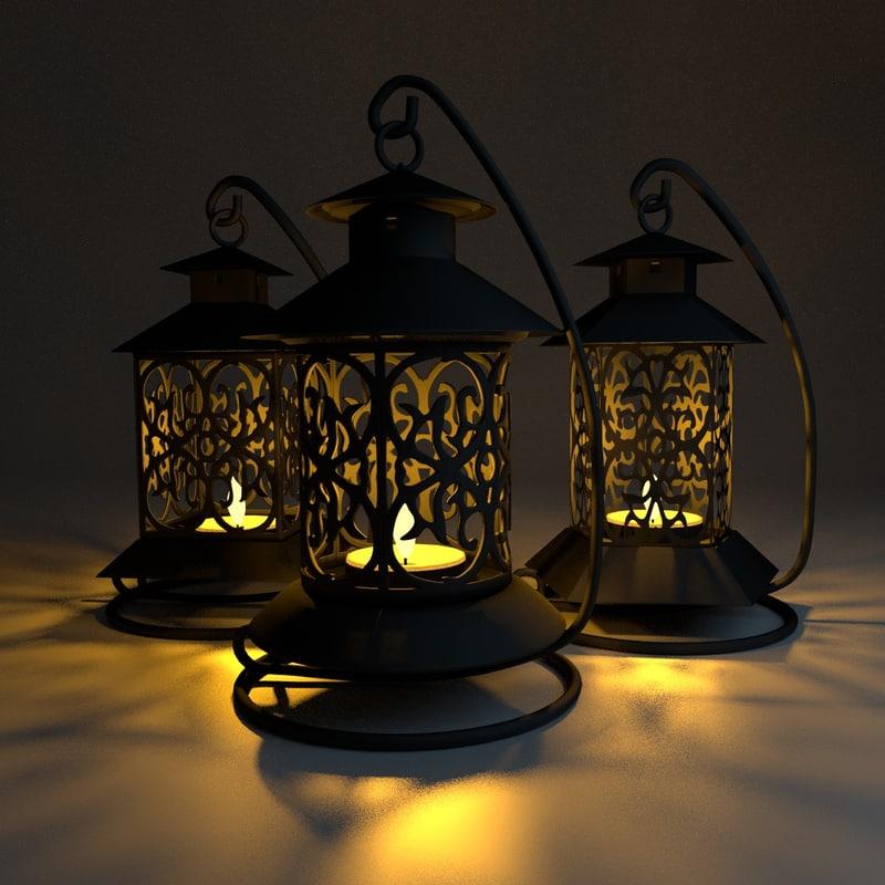 free obj model chinese lanterns