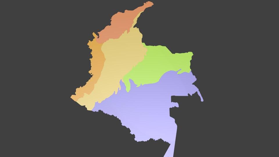 colombia regions obj free