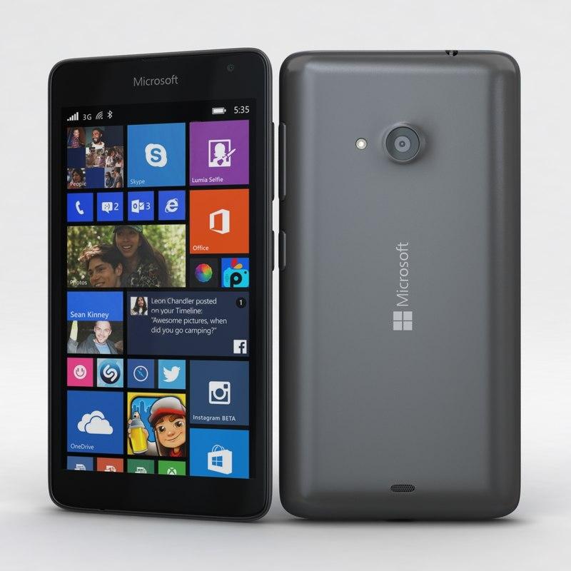 microsoft lumia 535 dual 3d model