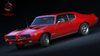 3d model pontiac gto judge 400