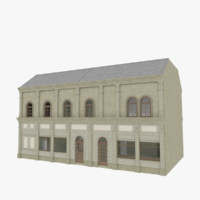 3d european building interior stores model