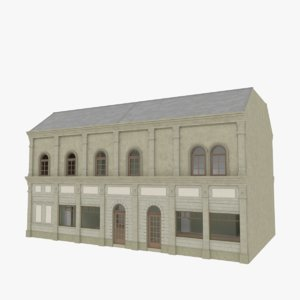 3d european building interior stores model