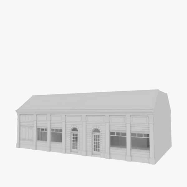 european building interior stores 3d 3ds