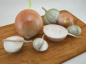 3d onion garlic
