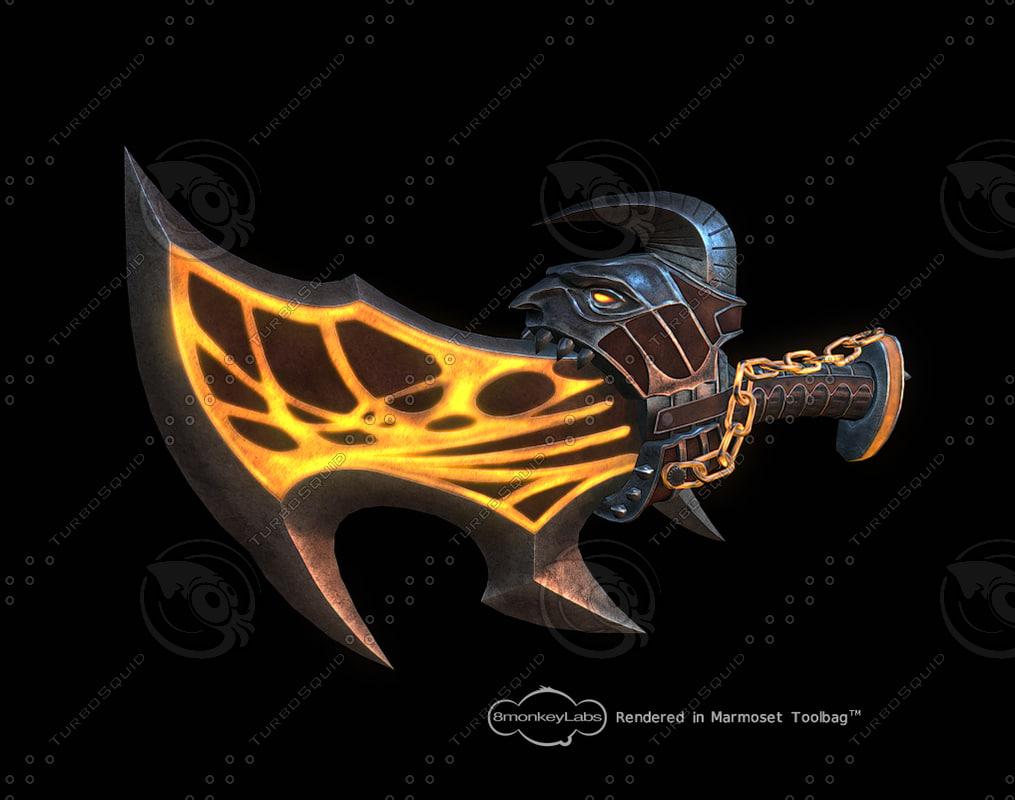 blade exile 3d model