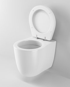 3d model ideal standard small toilet