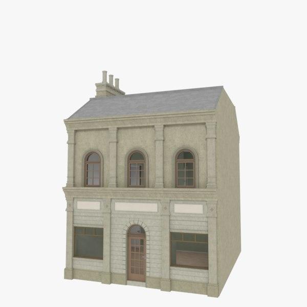 european building interior store 3d model