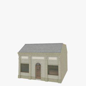 european building interior store 3ds