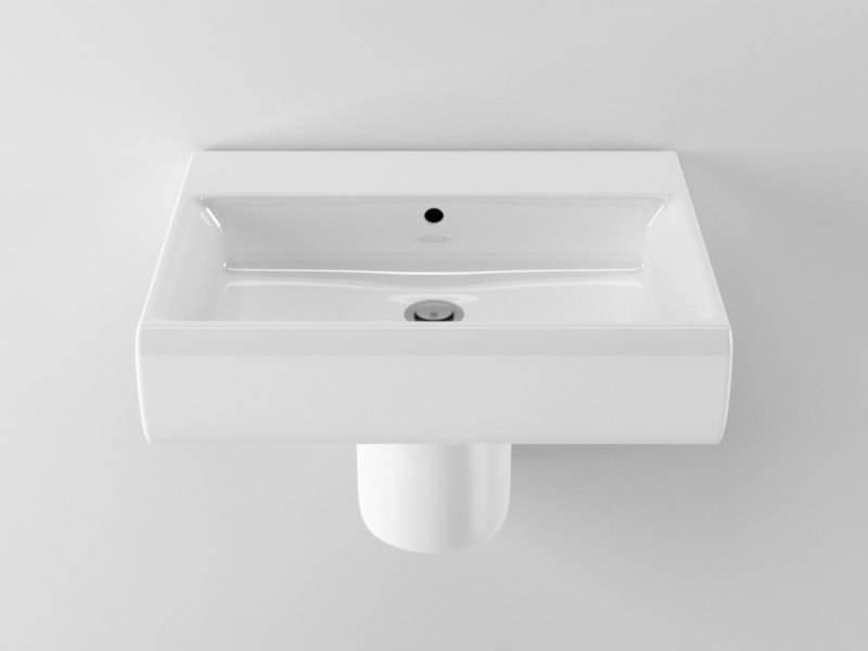 c4d ideal standard cube washbasin