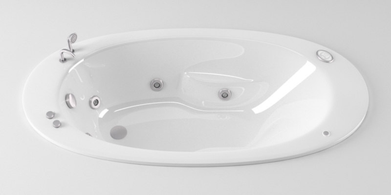3d c4d ideal standard colombe bathtub