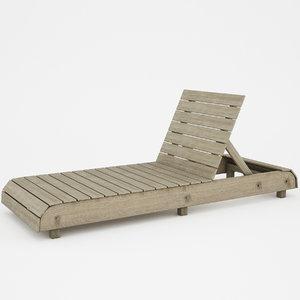 3d model sunbed sun bed