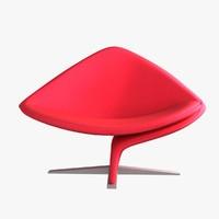chair steel asymmetric 3d max