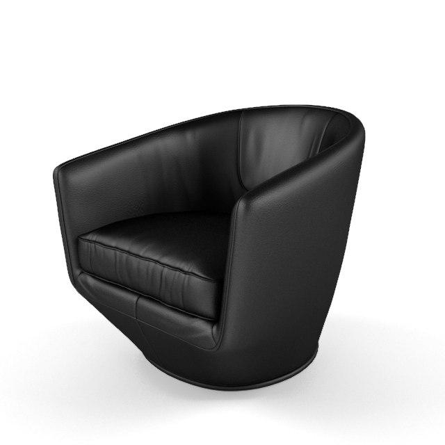 3d model u-turn swivel chair