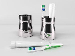 3d model ikea toothbrush holder 2