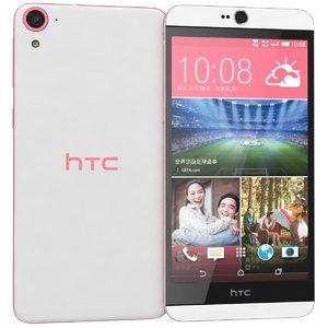 htc desire 826 pink 3d c4d