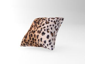 3d cushion leopard model