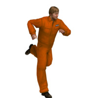 prisoner rig animation 3d model