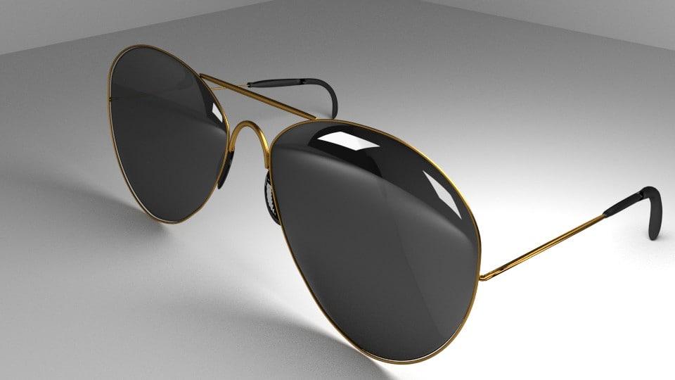 sunglasses darked 3d model