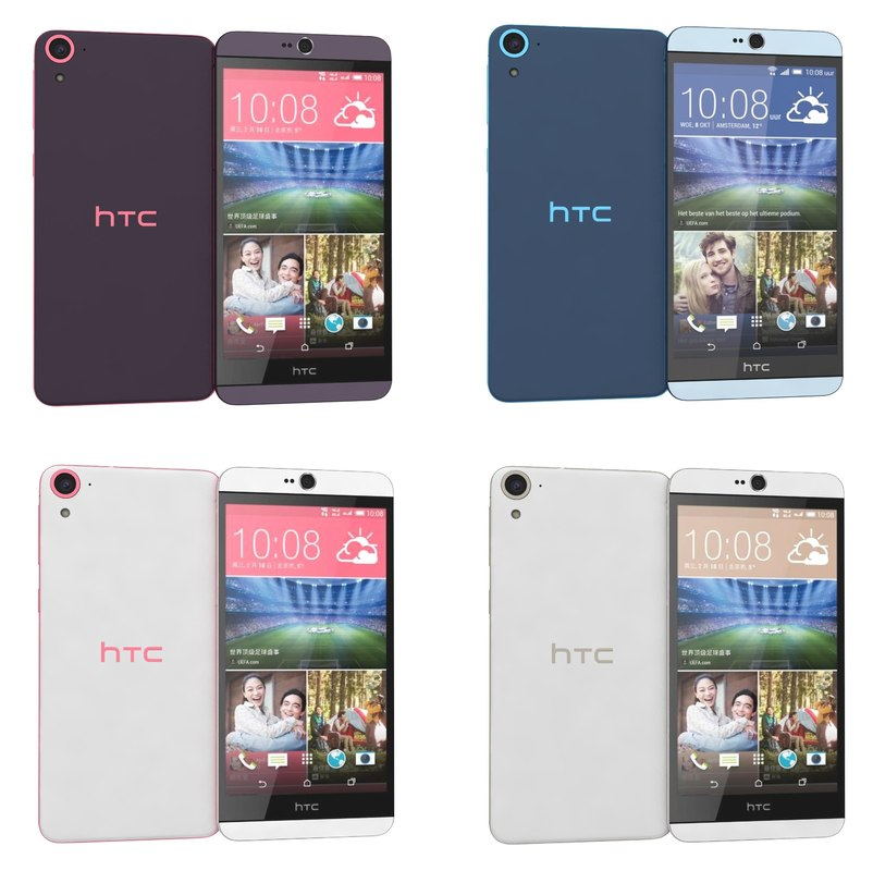 3d htc desire 826 colors model