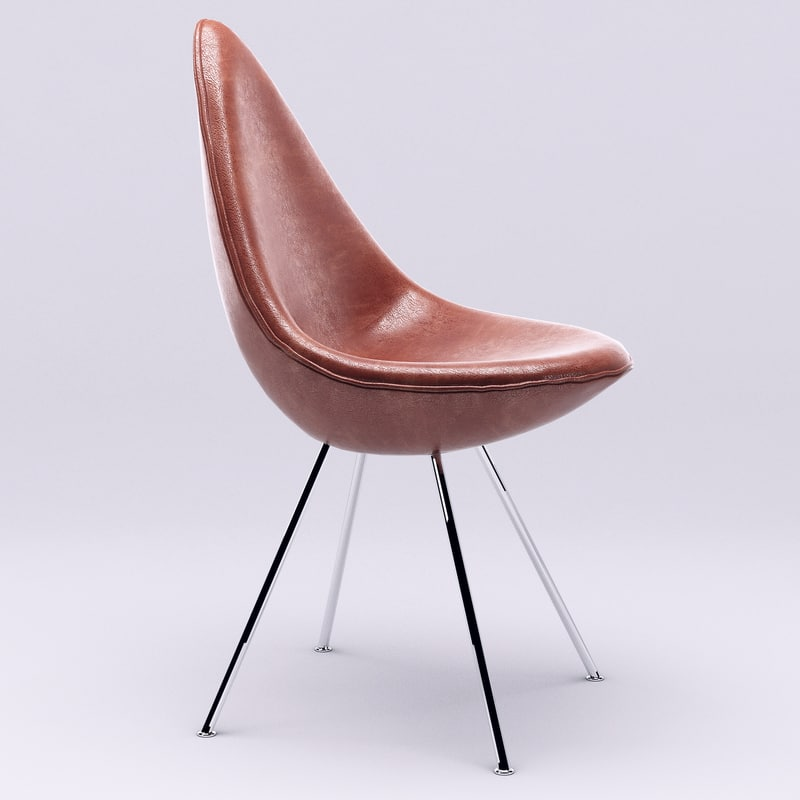3d drop chair fritz hansen model