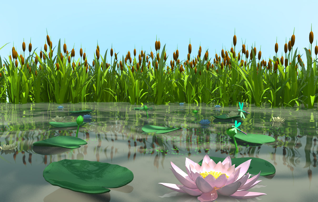 swamp plants 3d model