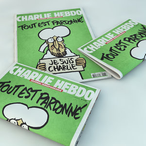 newspaper charlie hebdo 3d 3ds