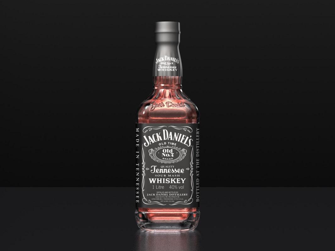 3d jack daniels bottle model