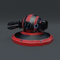 3d model scifi turret