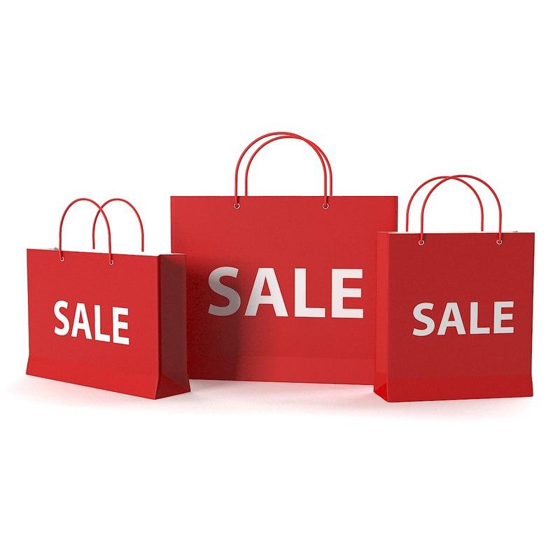 3d model sale bags