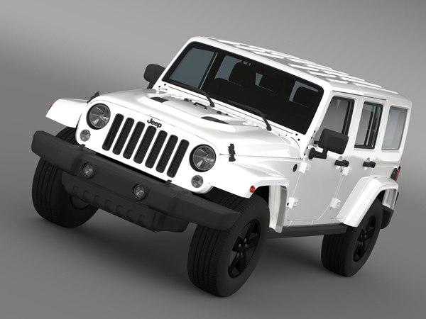 3d jeep wrangler unlimited x model