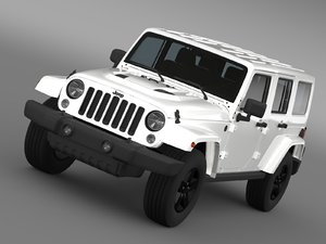 3d jeep wrangler unlimited x model