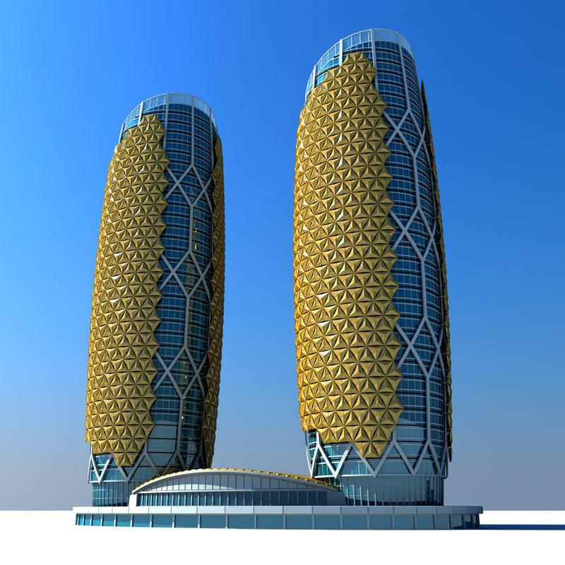 3ds max al bahar towers