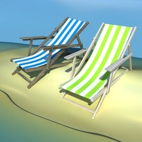 beach chair recliner 3d max