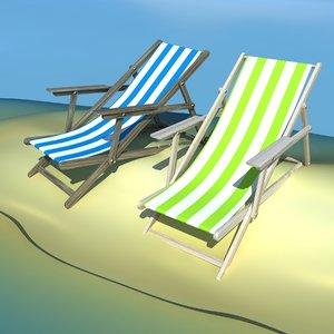 beach chair recliner 3d max